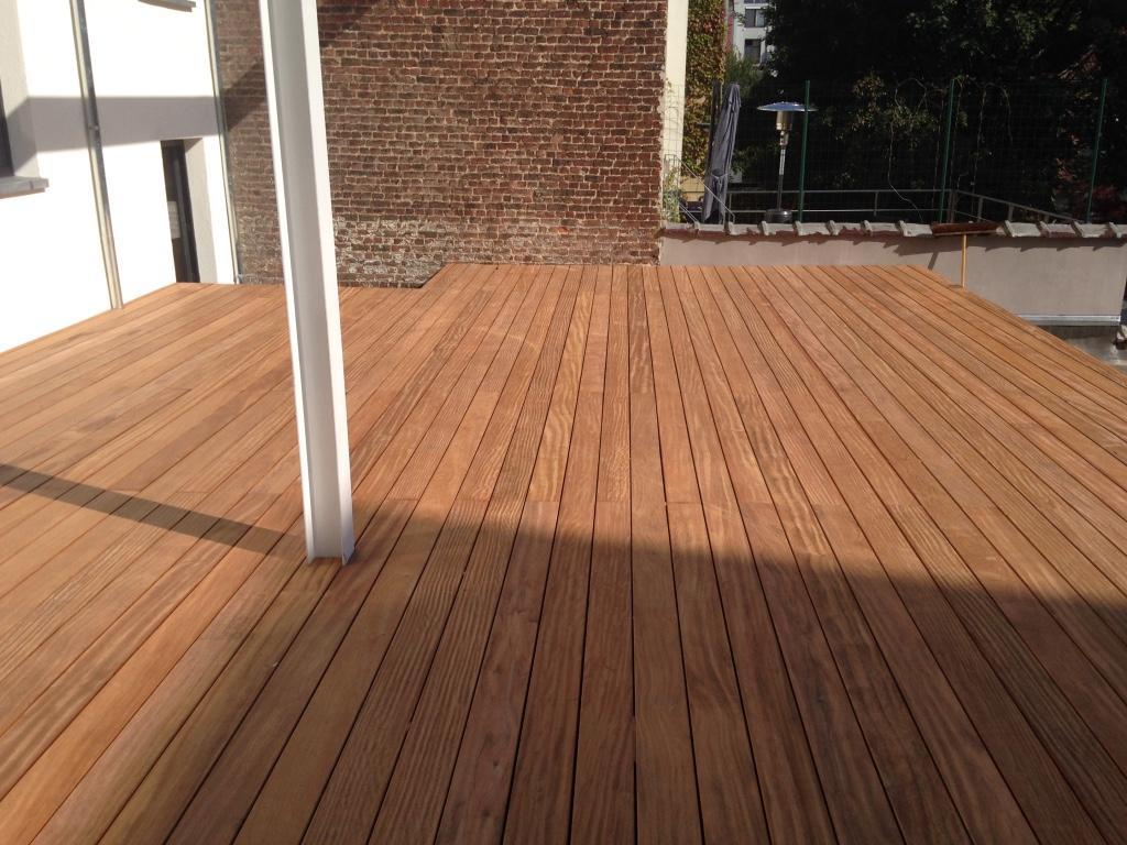 Exotic Wood Terrace In Brussels