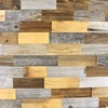 patchwork barn wood, old wood, recycled wood, reclaimed vintage