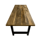 old oak table, recycled wood table, reclaimed dining table