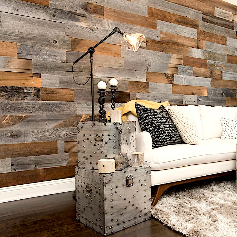 Patchwork Recycled Wood Claddings
