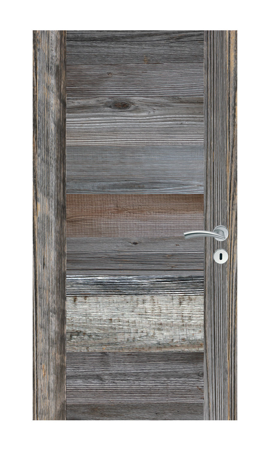 Reclaimed wood door interior and exterior grey reclaimed for Old wood doors salvaged