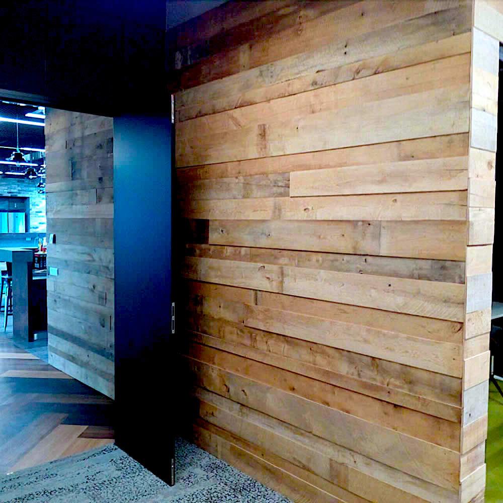 parement bois recycl brun clair. Black Bedroom Furniture Sets. Home Design Ideas