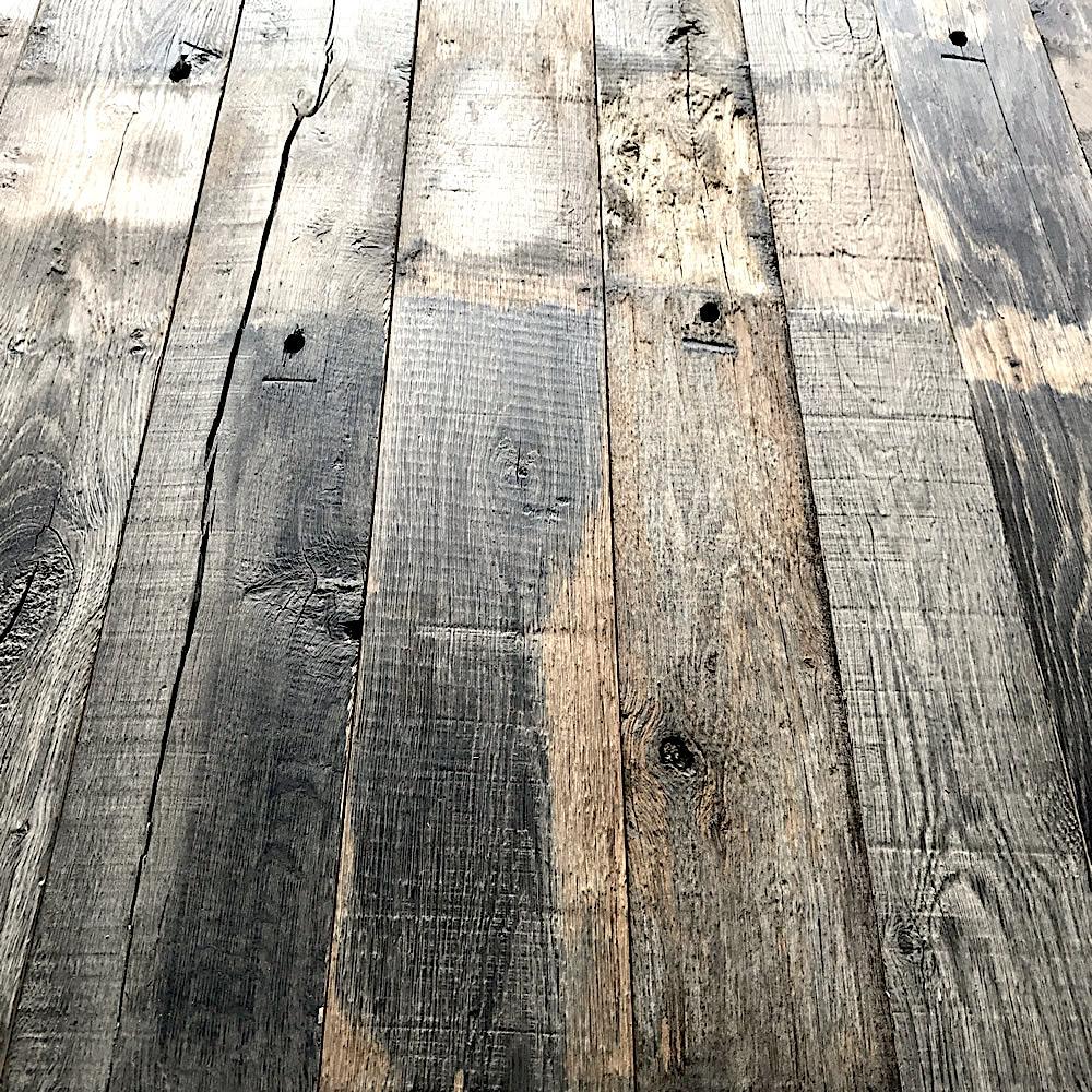plateau de table vieux bois de grange. Black Bedroom Furniture Sets. Home Design Ideas
