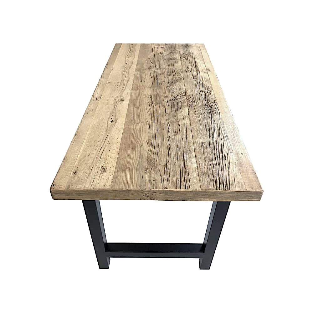 plateau table bois recycle sur mesure. Black Bedroom Furniture Sets. Home Design Ideas