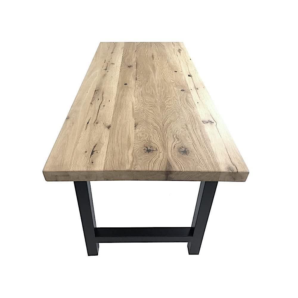 Table En Bois Chene Clair table de salon en vieux chêne sur mesure