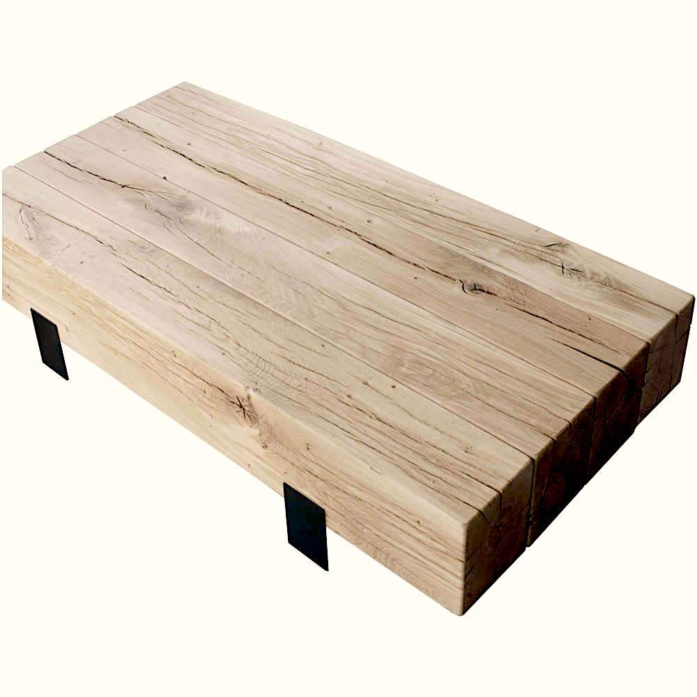 Table basse en vieux bois de r cup ration - Table basse vieux bois ...