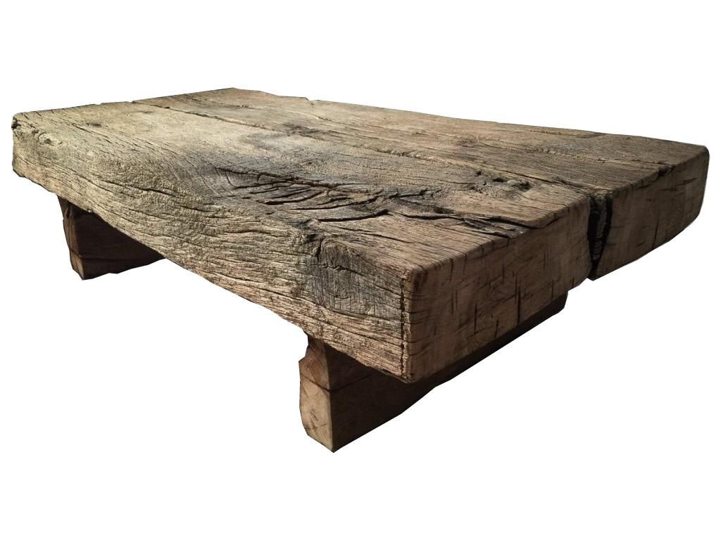 Table Basse En Vieux Bois De Récupération